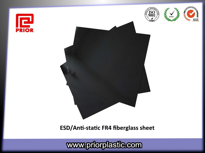 100% ESD Black Fr4 Sheet with 10^6~10^9 Resistivity