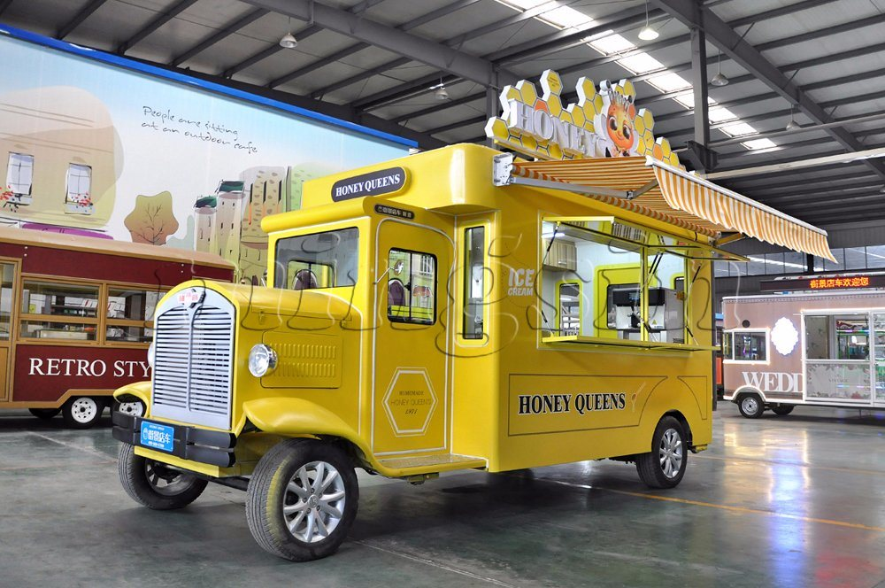 China Battery Powered Vintage Style Mobile Catering Trucks
