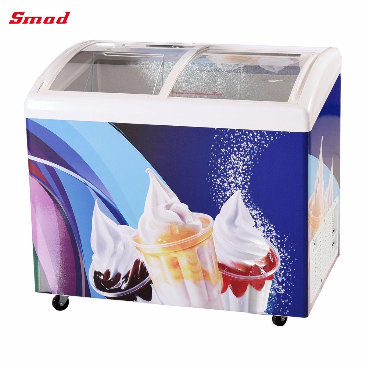 China Wholesale Glass Door Ice Cream Display Chest Freezer China