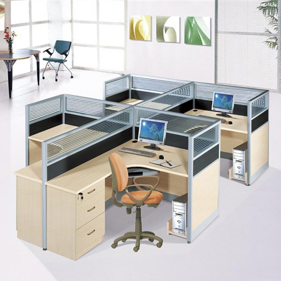 Metal Frame Workstation Glass Desk Partition Panels Office Furniture Sz Wst651