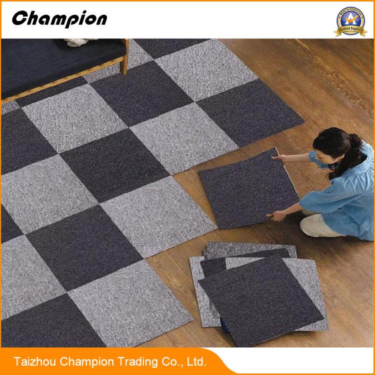 China Na 100 Pp Fiber Tile Carpet