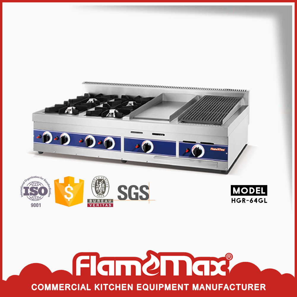 China stainless steel kitchen equipments table top china gas griddle count top catering equipment