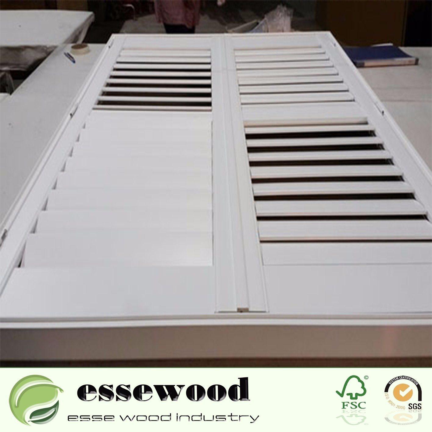 China Wood Window Shutter Plantation Shutter For Interior