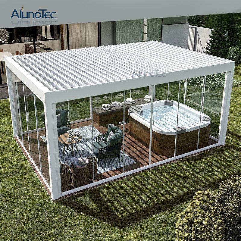 Pergola Designs Aluminum: China Waterproof Aluminium Gazebo Motorized Garden Outdoor