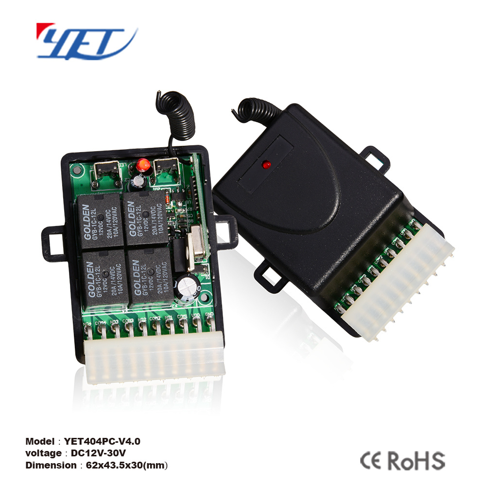 China 4 Channel Learning Code Univesal Rf Remote Control Switch Circuit Wireless Receiver Controller