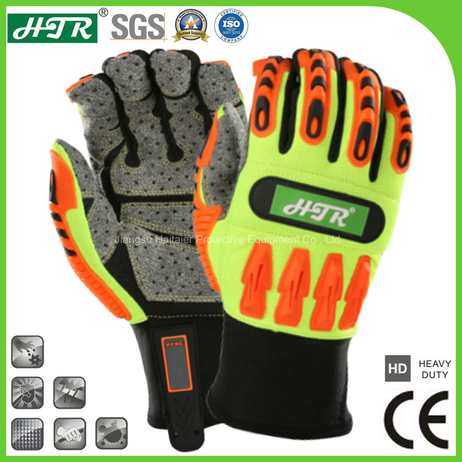 Safety Gloves Anti-vibration Impact Protection Latex Labor Protection Work Gloves Wear Resistance Gloves High Quality Latest Technology Workplace Safety Supplies