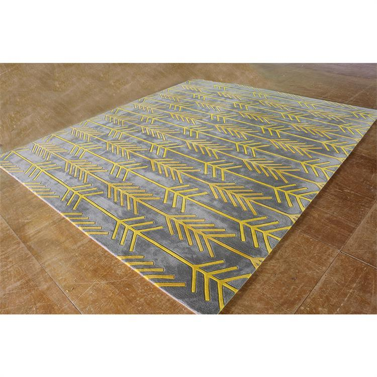 Golden Arrow Striped Hand Tufted Rugs