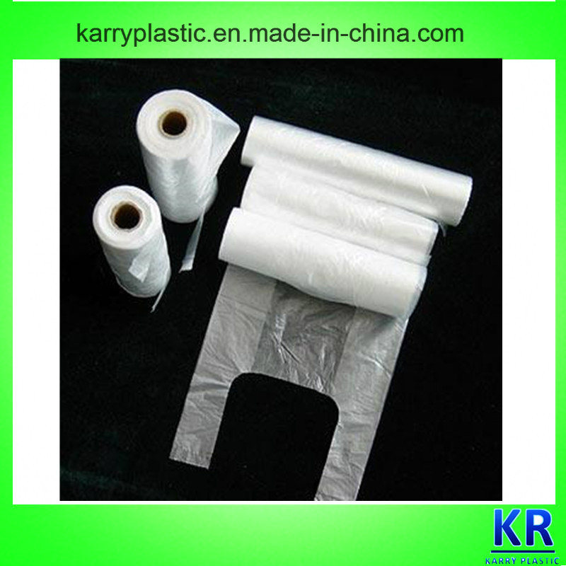 HDPE Carrier Bags Handle Plastic Bags with Core for Shopping