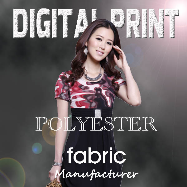 2017latest Print Polyester Fabric (YC128)
