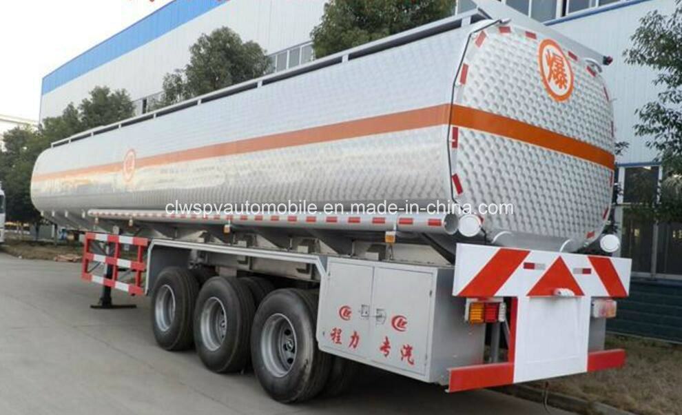 3 Axles Heavy Duty Fuel Tanker Truck Trailer 40 to 55cbm Oil Tank Semi Trailer pictures & photos