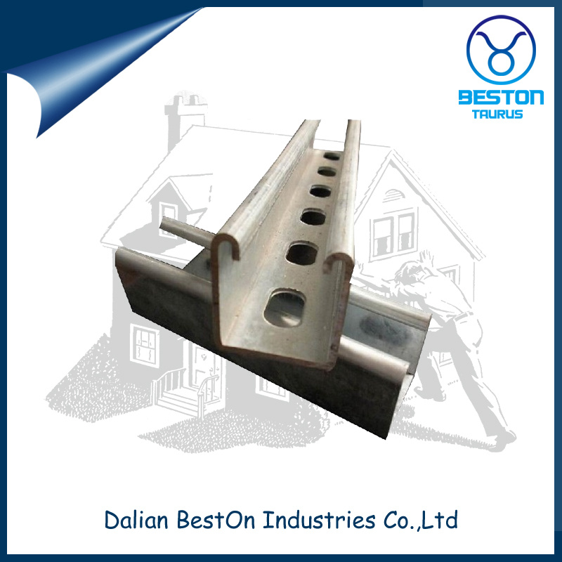Galvanized Steel Strut U Channel with Slotted and Plain