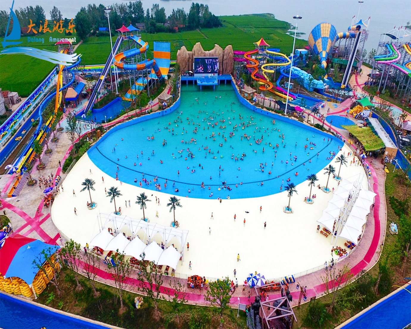 Water Park Equipment Tsunami Pool