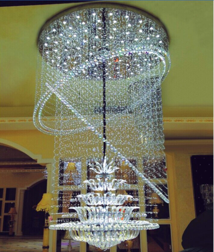 huge discount f9f81 630d4 [Hot Item] Modern Decorative K9 Crystal Chandelier with LED for Hotel  Project