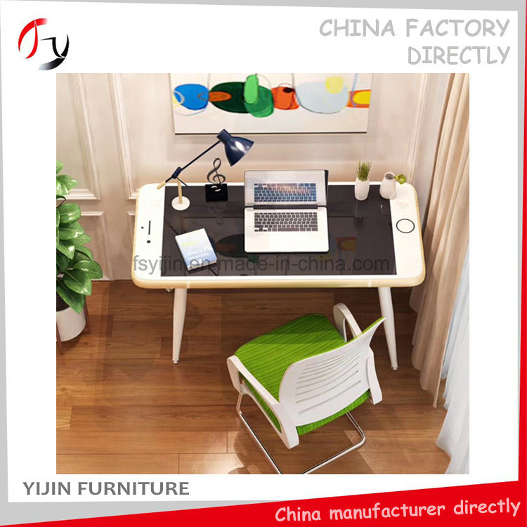 China Luxury Golden Edge Latest Hot Home Apartment Computer Desk Apt 3