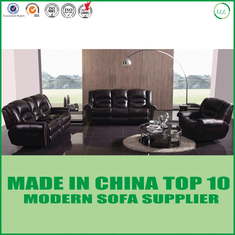China Modular Luxury Furniture Leather Sectional Recliner Sofa