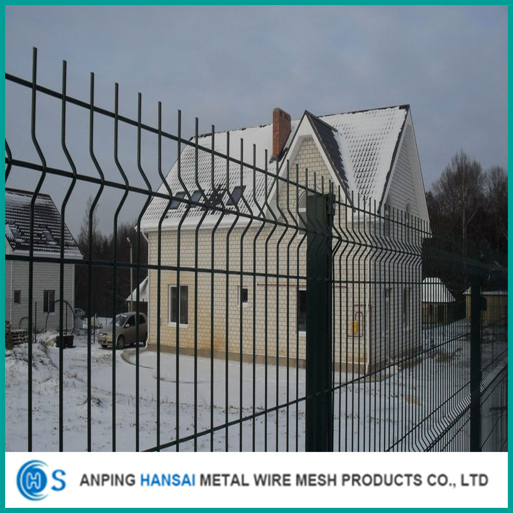 China 3D Galvanized and PVC Coated Welded Wire Mesh Fence - China ...