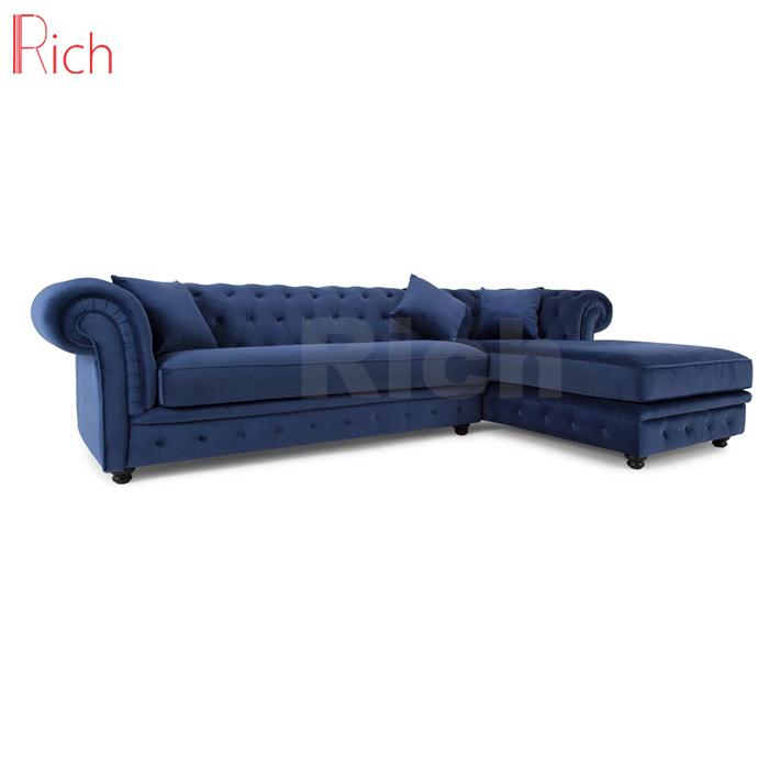 Amazing Hot Item Chesterfield Design Fabric Velvet Corner Sofa For Living Room Inzonedesignstudio Interior Chair Design Inzonedesignstudiocom