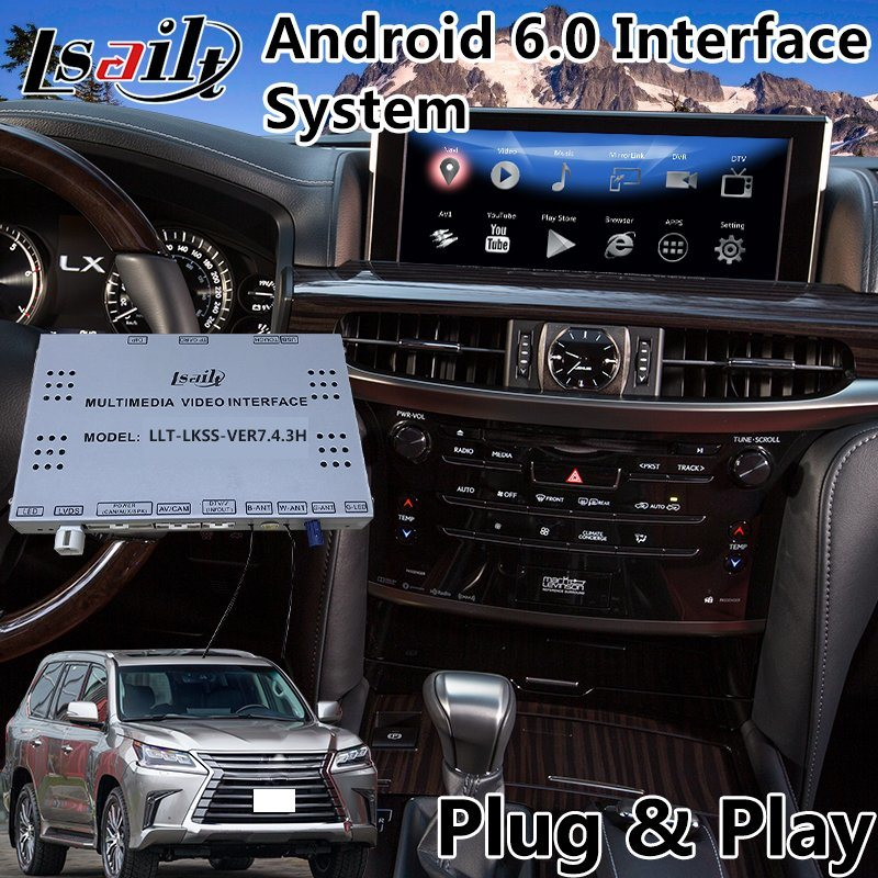 Android 6 0 Car Video Interface GPS Navigator for Lexus Lx 570 with Mouse  Control 2016-2018 Google Play Store Spotify