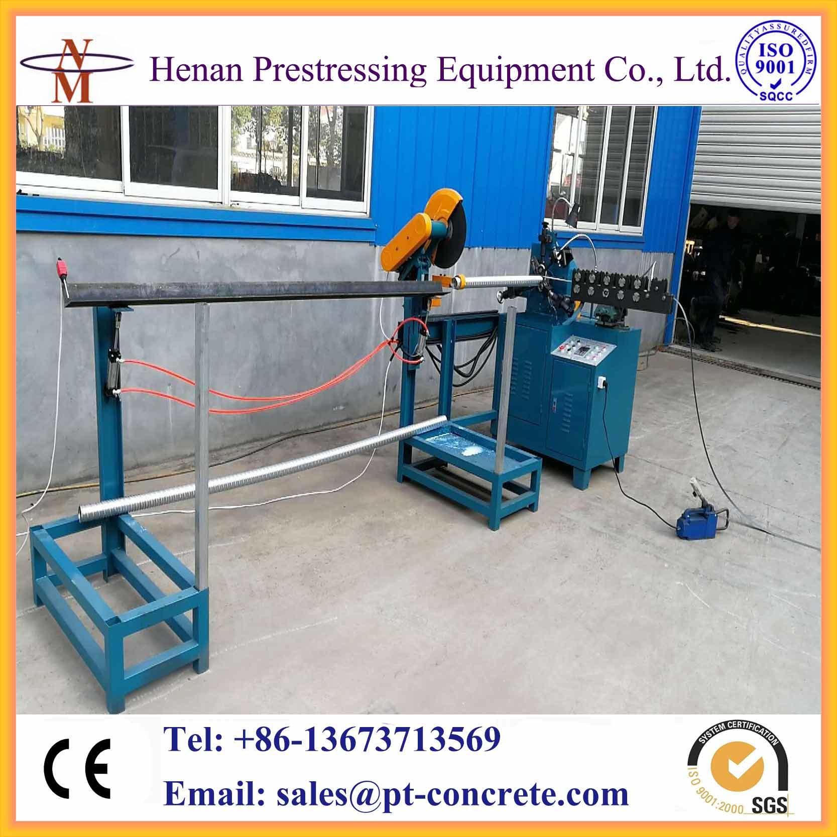China Auto Operated Post Tension Corrugated Galvanized Duct Machine ...