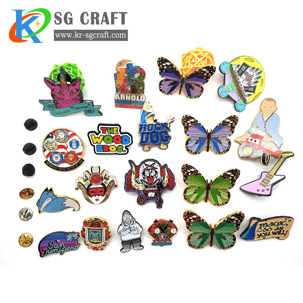 Hot Sale Enamel Pins Set Brooch Pins Military Lapel Pin Cartoon Cute Badges for Clothes Hat Backpacks Gift