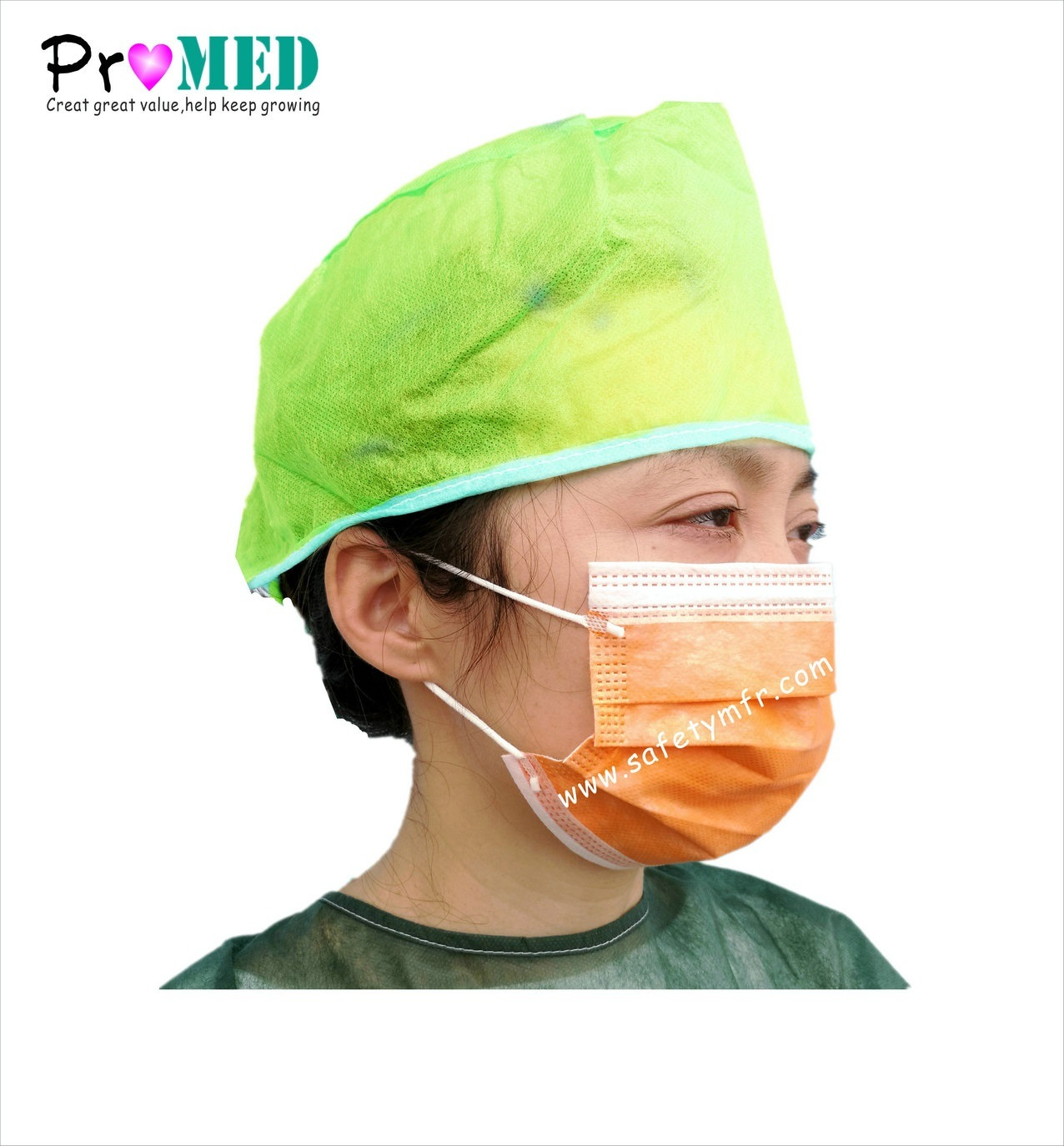 c969faee349 China Nonwoven Bouffant Hairnet Cap