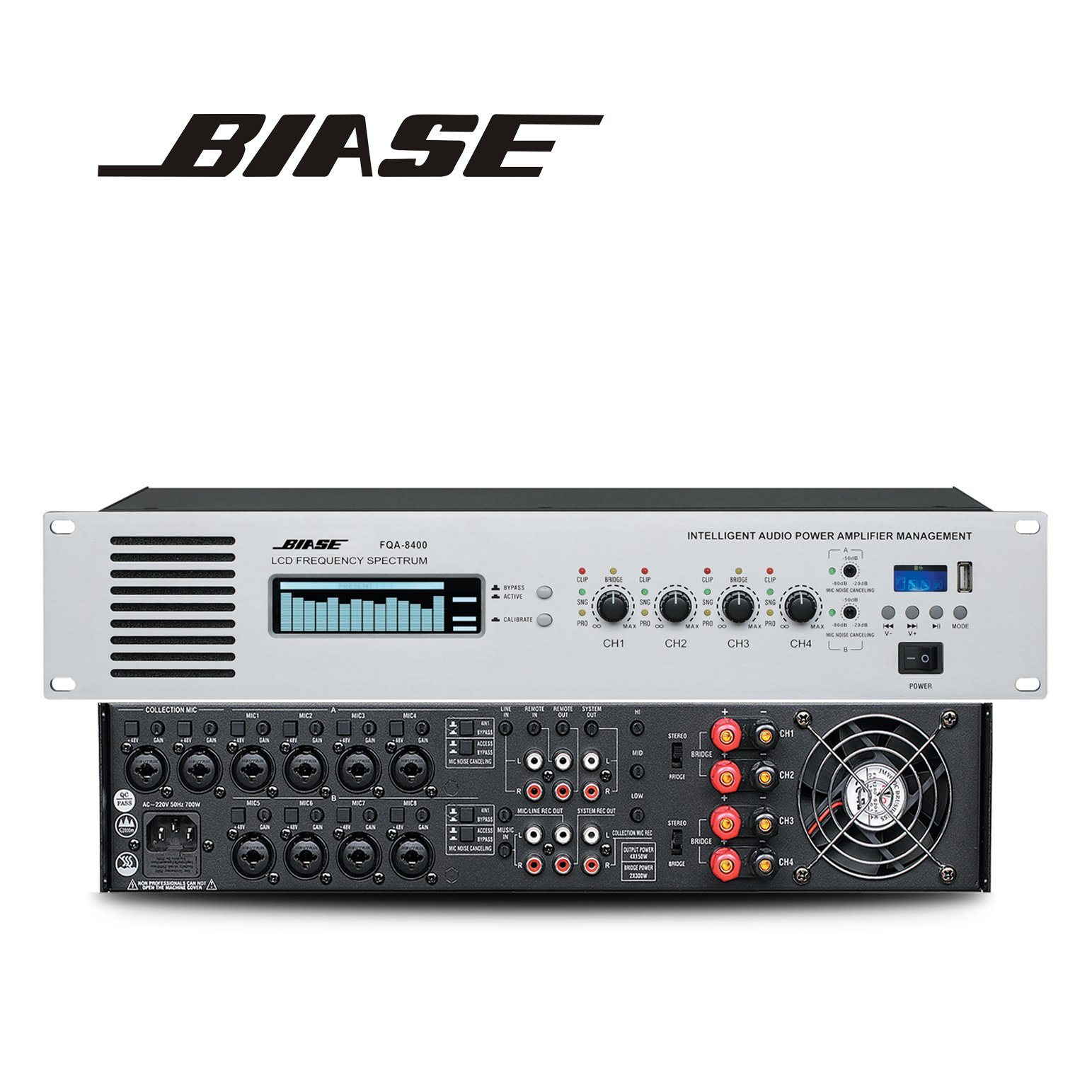 China 4 Channel 100w Intelligent Professional Audio Power Amplifiers Management