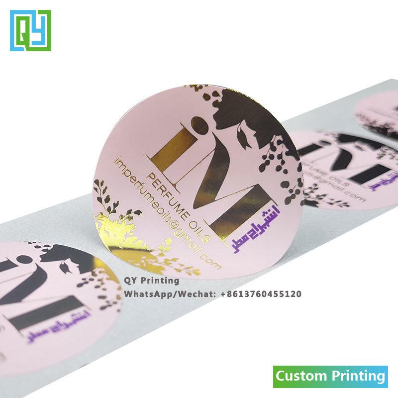 Hot Item Custom Jewelry Perfume Cosmetic Medicine Gold Foil Labels Printed