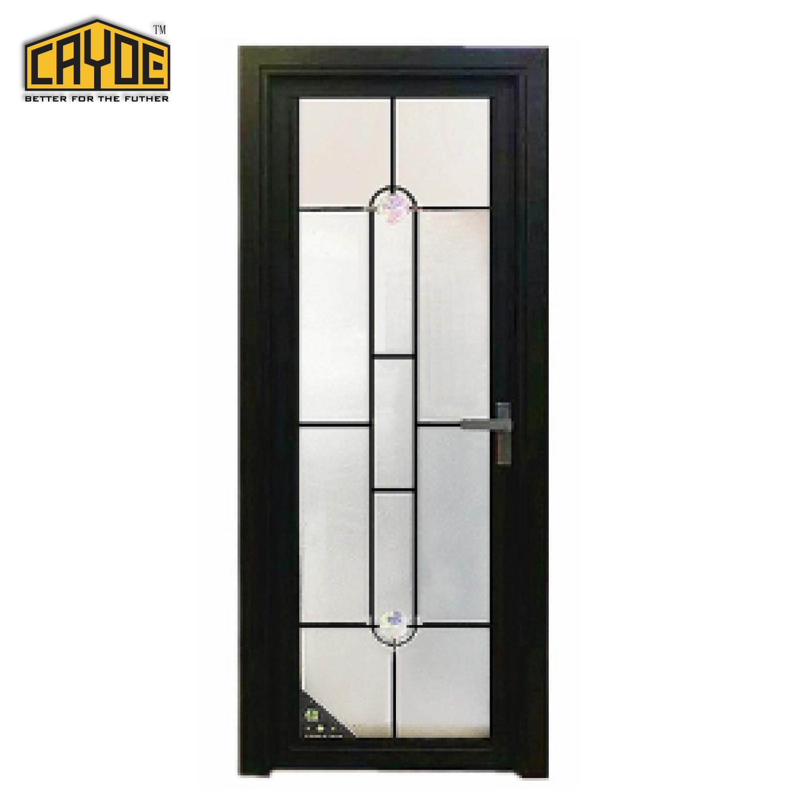 China Aluminum Door Build Metal Bathroom And Toilet Room Glass Door