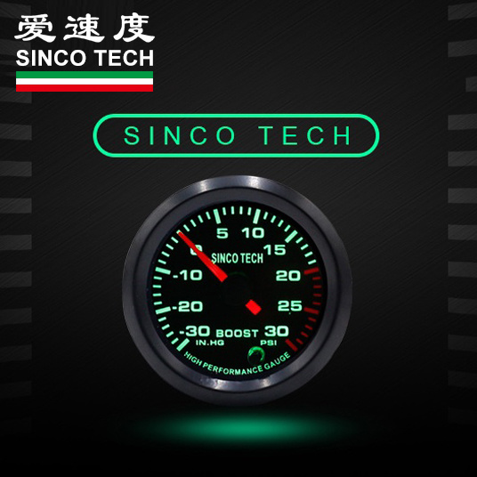 2/'/' 52mm Universal Car LED Turbo Boost Gauge Meter Pointer Bar 7 Color Display