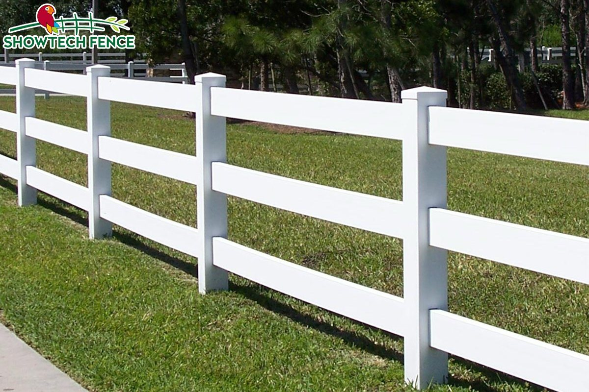 China classic 3 rails white farm horse vinyl fence photos & pictures