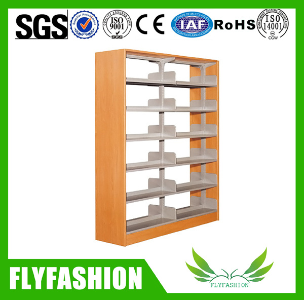 Library Steel Bookshelf Wooden Book Rack (ST-23)