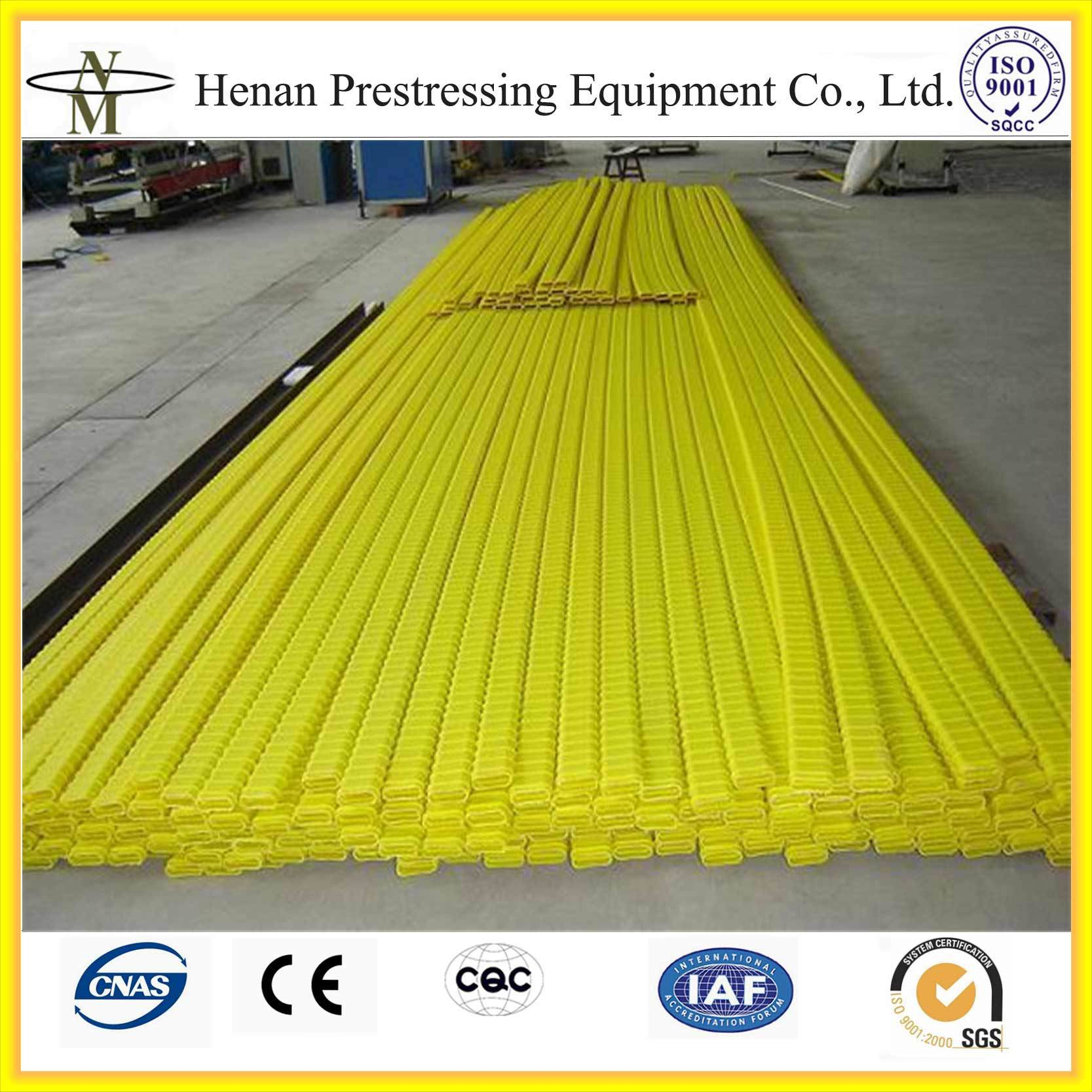 China Cnm Plastic HDPE Post Tension Flat Duct for 12.7mm Strands ...