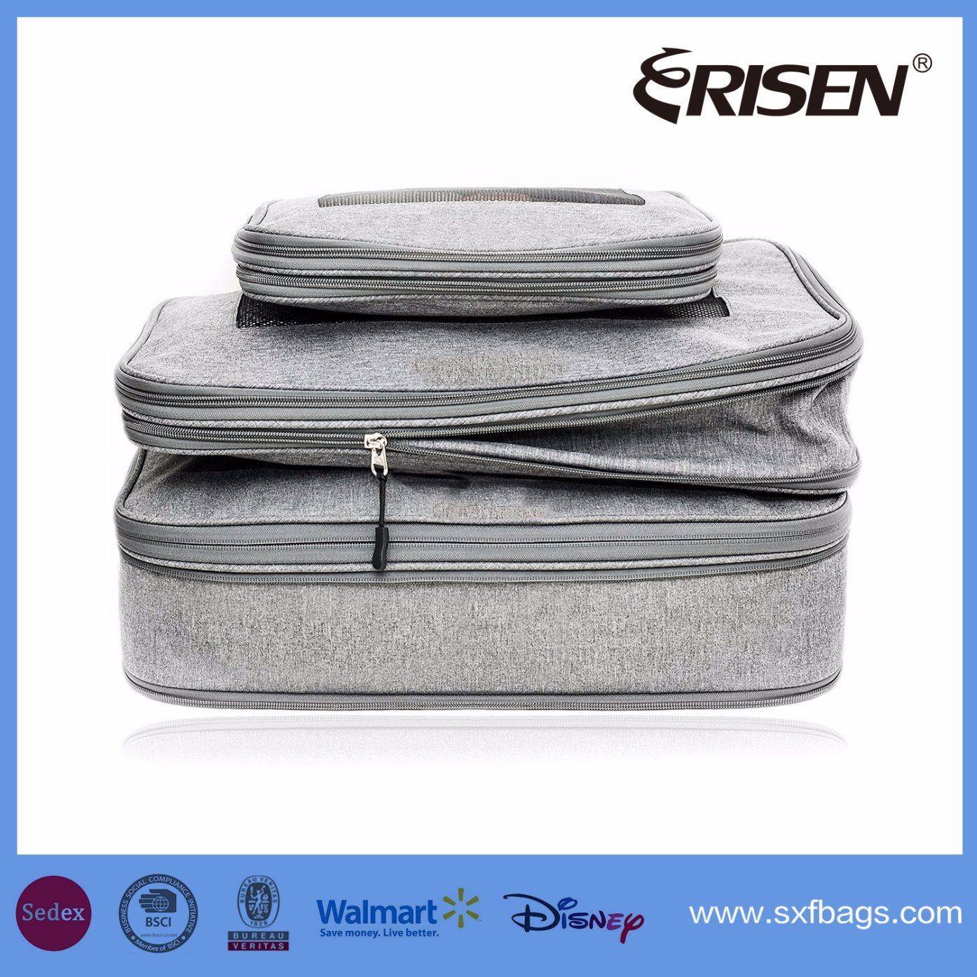 Slim Basics 4 Piece Packing Travel Organizer Cubes Set Grey