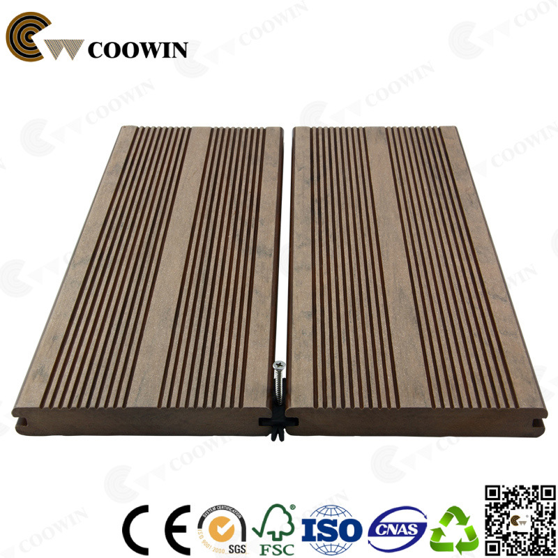 Patio Outdoor Solid Groove Wood Plastic Composite Decking WPC