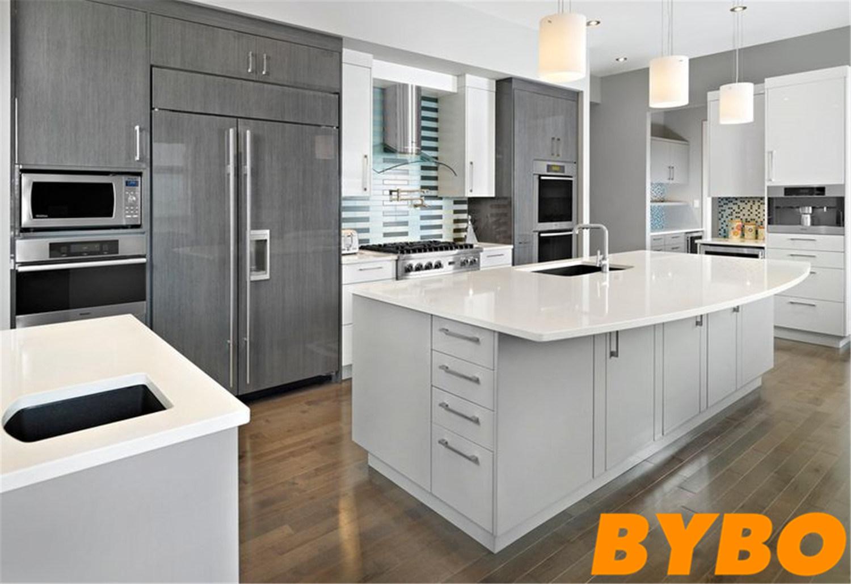 China Foshan 2018 New Design Matte Lacquer Finish Kitchen ...