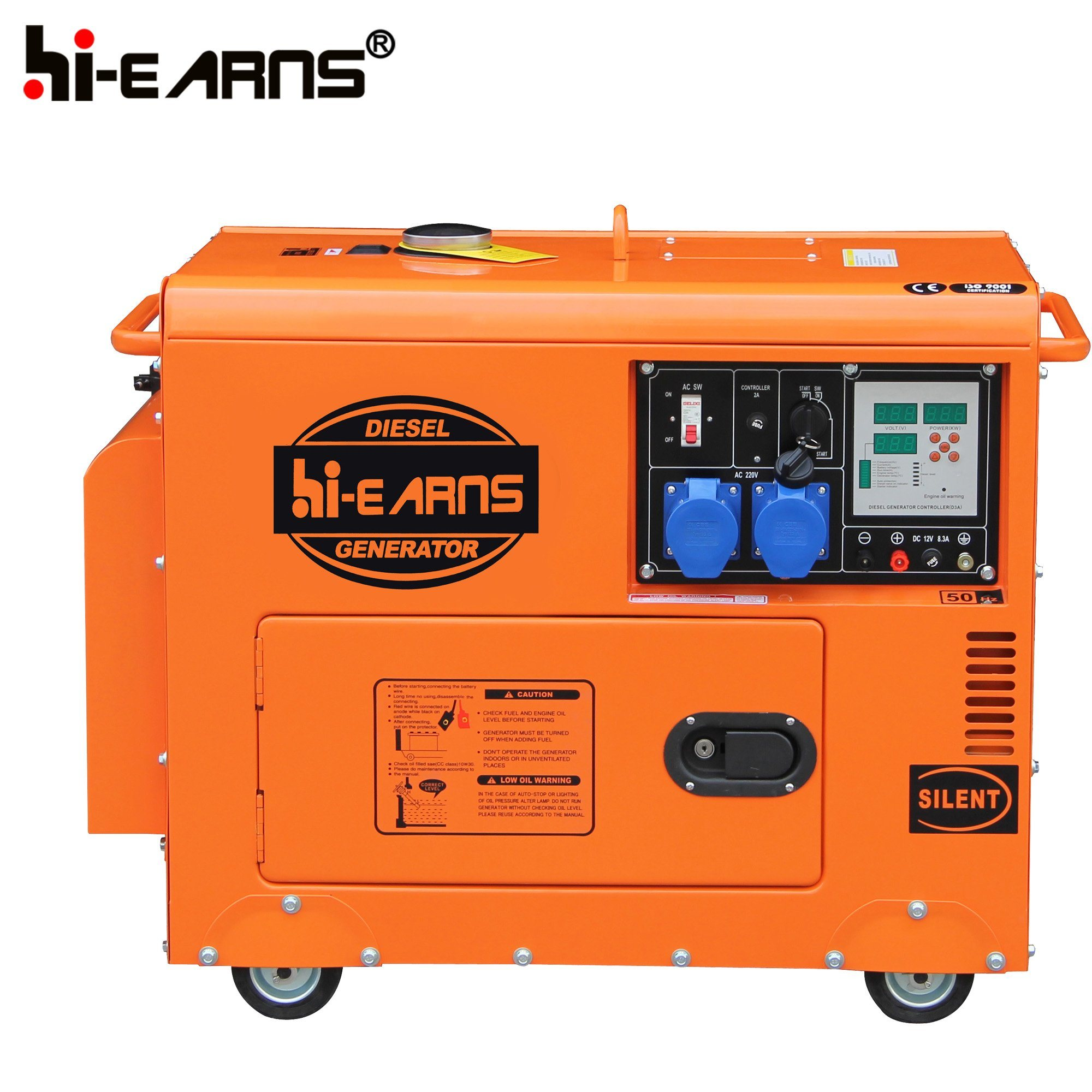 China Patent Product Silent Diesel Power Generator DG6500SE