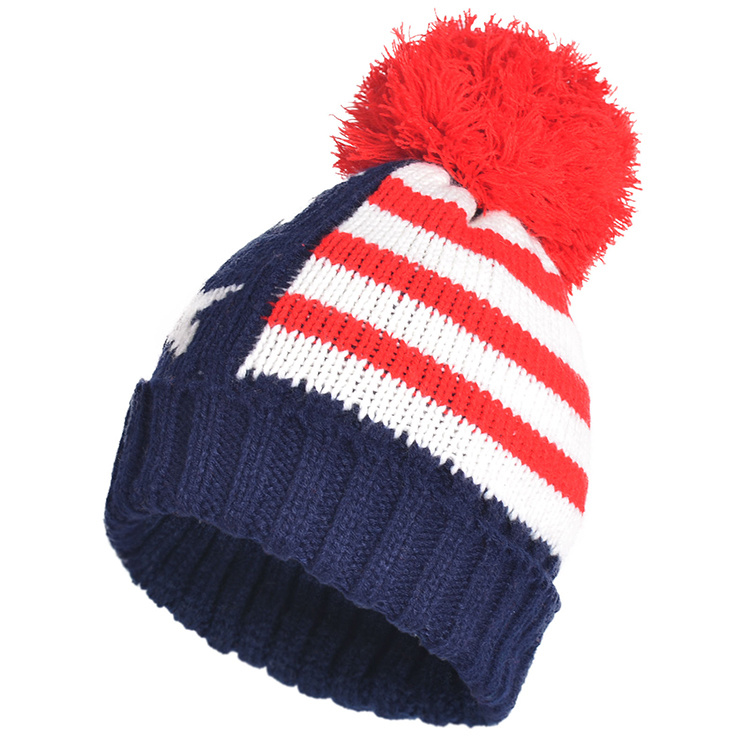 b1dc5a71913 Winter Hats Mix Colors Knitted Acrylic Big POM Poms Beanies Skull Caps