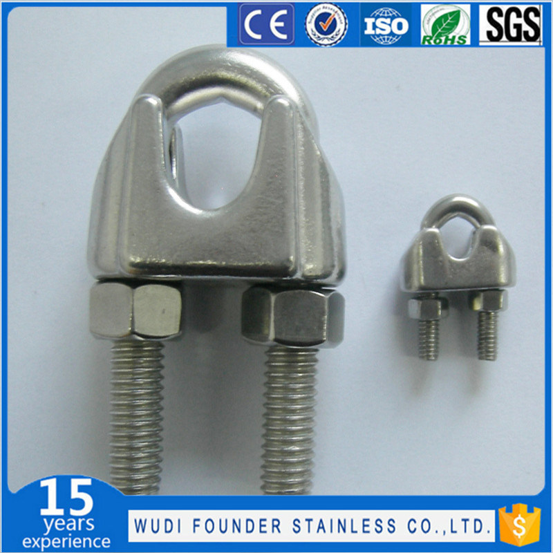 China Stainless Steel Ss304 or Ss316 DIN741 Wire Rope Clips - China ...