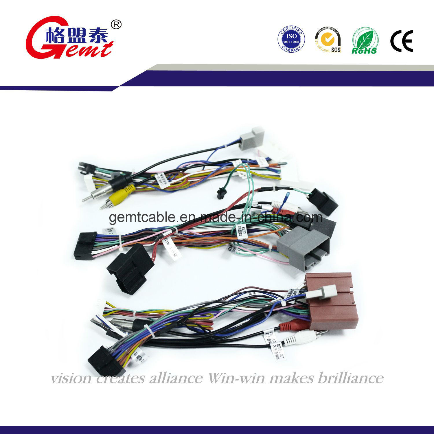 China Factory Customized Iso Wire Harness For Audio Of Different Car Auto Cable Automotive