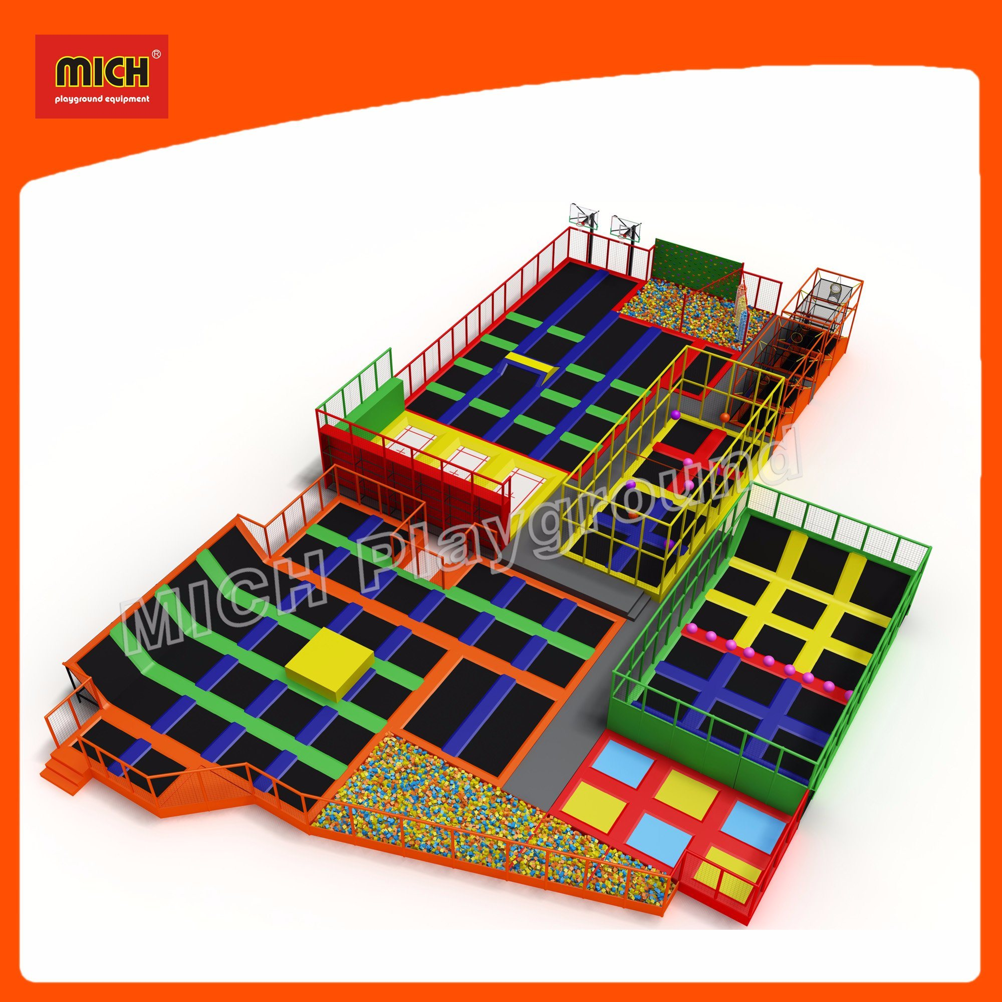 China Mich Toddler Jungle Gym Indoor Trampoline with Indoor