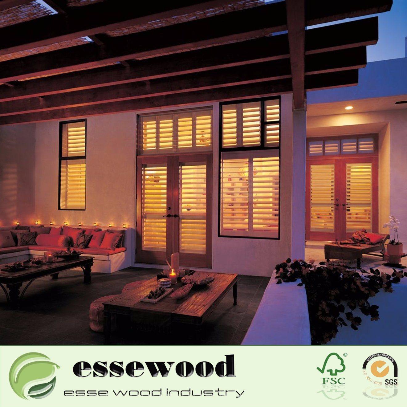 China Good Quality Pvc Or Wood Bi Fold Plantation Indoor Or