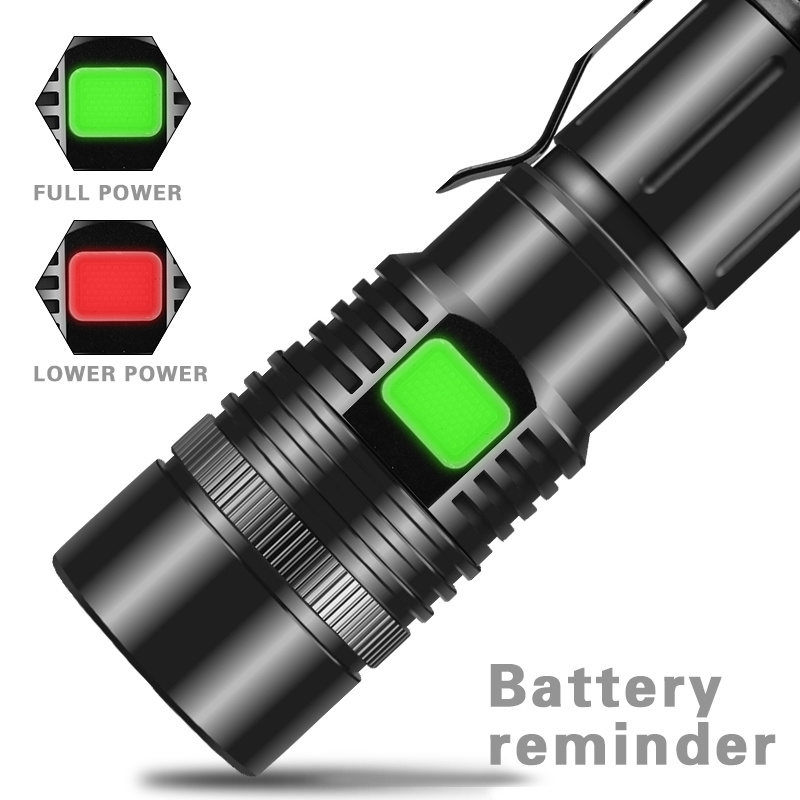 Tactical XHP50 Flashlight Torch 5Modes Zoomable LED USB Rechargeable 26650 Light