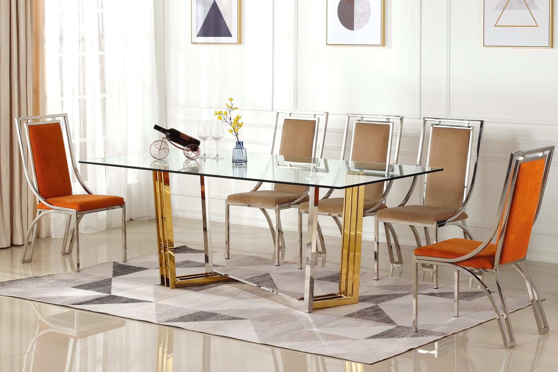Design Modern Dining Table Set Dining Room Furniture Table And Chairs For Home Restaurant China Dining Table Dining Table Set Made In China Com