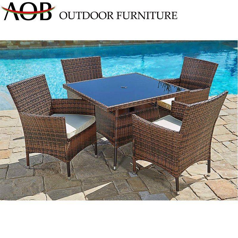 China Modern Outdoor Dining Table Sets Patio Design Garden Hotel Restaurant Rattan Wicker Furniture China Outdoor Furniture Dining Furniture