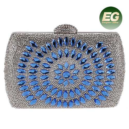 Latest Design Crystal Beaded Evening Bags for Girls Rhinestone Clutch Handbag Purses Eb869
