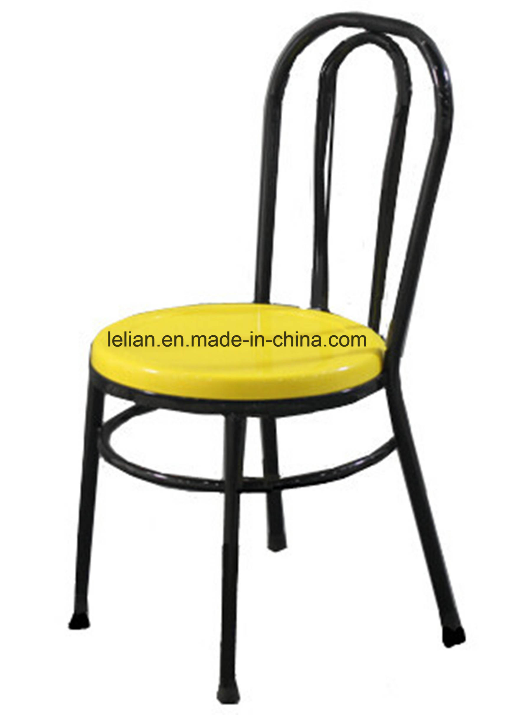 Fiber glass dining chair with metal leg for garden furniture ll dc007