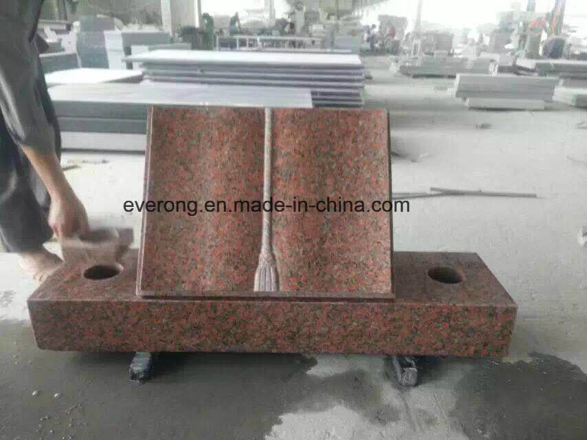 Cheap Granite Open Book Upright Headstone with European Design in Wholesale pictures & photos