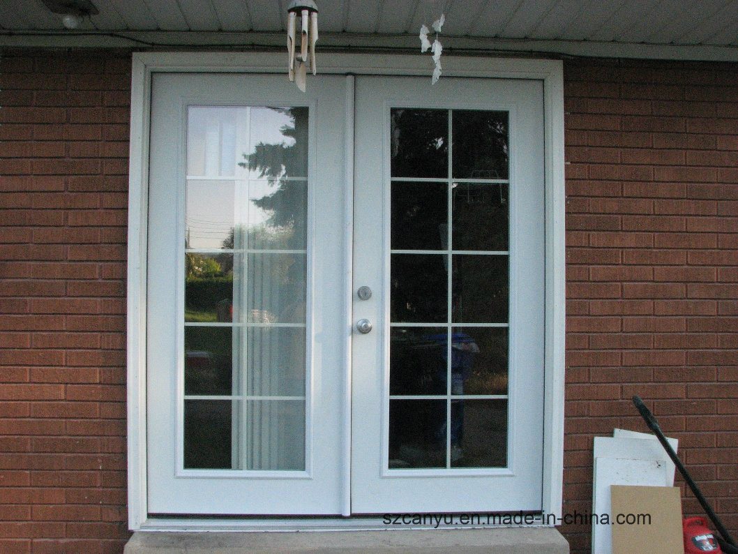 High Quality UPVC Double Casement Doors/UPVC French pictures & photos