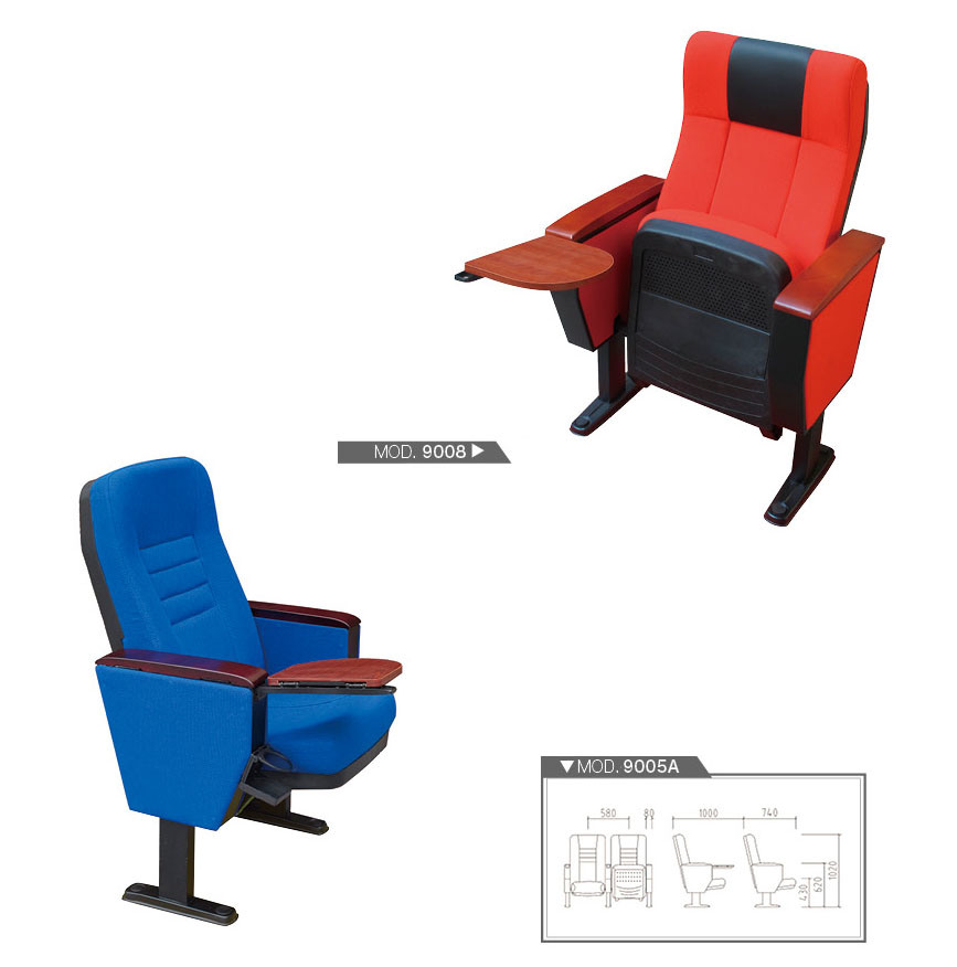 Modern Public Chair Cinema Movie Waiting Seating Theater Auditorium Chair with Writing Board Fsc Certified Approved by SGS