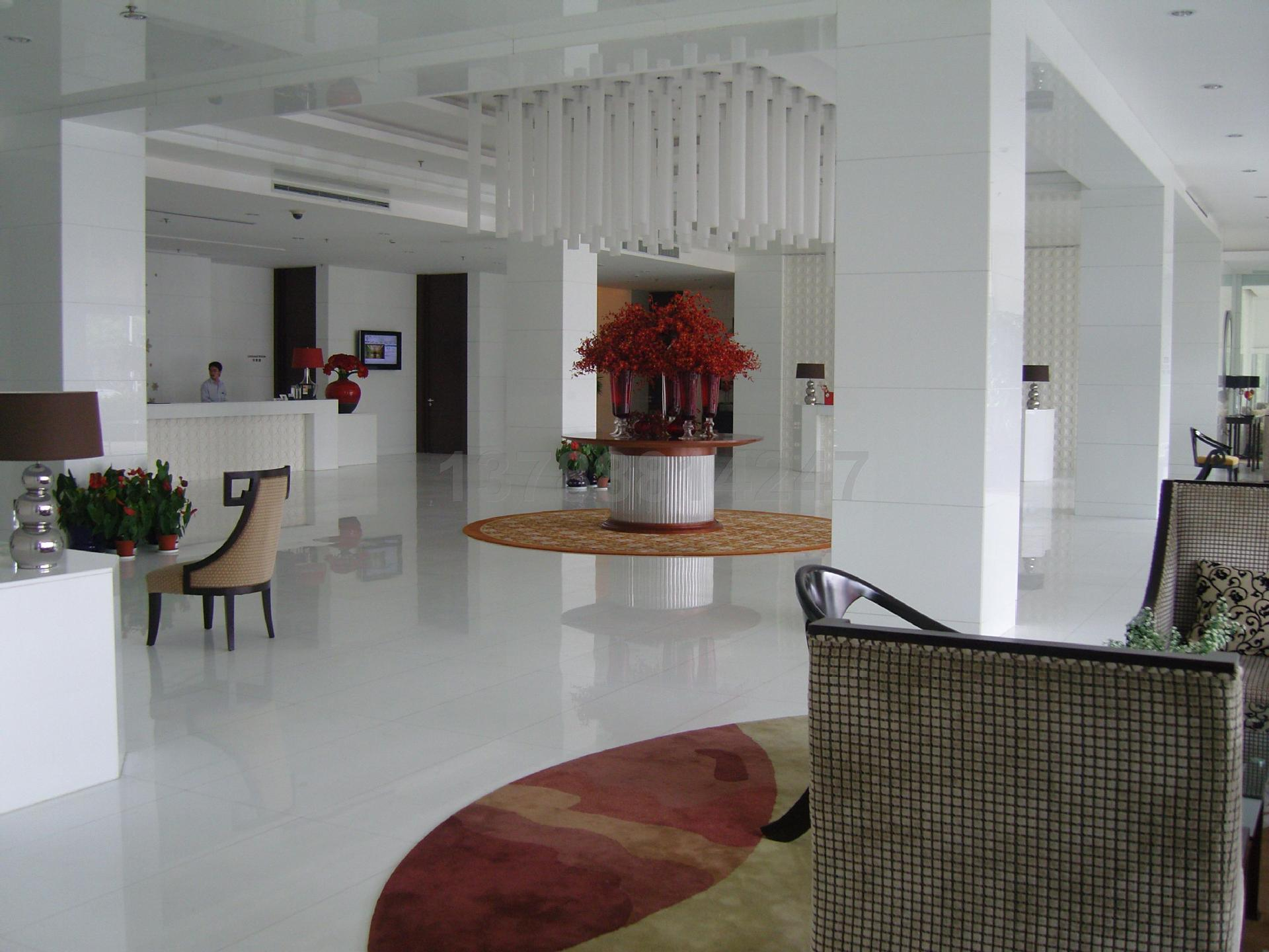 China Pure White Nano Glass Artificial Stone Marble Floor Tiles Slabs